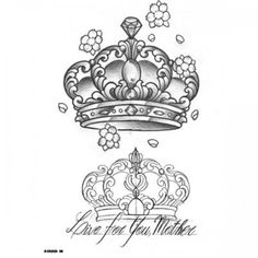 30 Best Crown Tattoo With Heart Outline Design images in ...