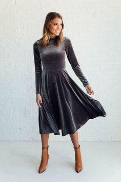 Modest Velvet Dress