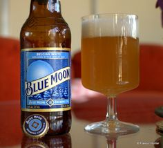 Blue Moon Wheat Ale #BlueMoon Beer Pictures, Belgian Style, Blue Moon, Beer Bottle, Ale, Drinks, Full Moon, Ales, Drink
