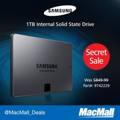Need more storage? Snag a great deal on a 1TB Samsung internal SSD at MacMall. #DailyDeal