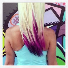 Gallery For > Blonde Hair With Pink And Blue Tips