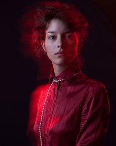 portrait in red colour. @raktavarna