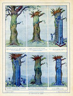 """""""Tromper l'ennemi – L'invention du camouflage moderne en 1914-1918"""" de Cécile Coutin. Un poste d'observation dans un tronc d'arbre blindé."""