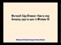 Microsoft Edge Browser: How to stop Annoying apps to open in Windows 10
