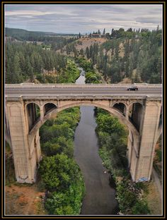 The Sunset Boulevard Bridge Spokane WA: from Empire Builder  by Loco Steve, via Flickr-scary eh?