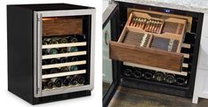 Love wine and cigars? Then store them at the perfect temperature and humidity levels with this cool new Aficionado's Cigar Humidor And Wine Refrigerator.