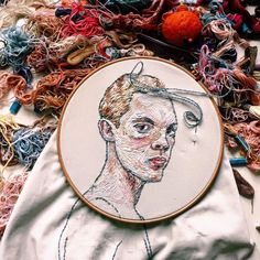 Stunning Embroidery Art works by Moscow artist Lisa Smirnova 7 creative embroidery art lisa smirnova Portrait Embroidery, Embroidery Art, Lisa, Colossal Art, Character Portraits, Illustrations, Textile Art, Les Oeuvres, Pencil Drawings