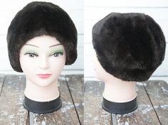 1980s Vintage Dark Brown Faux Fur Women Hat / by CoverVintage, $29.00