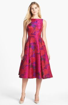 Love this: Jacquard Tea Length Fit Flare Dress @Lyst