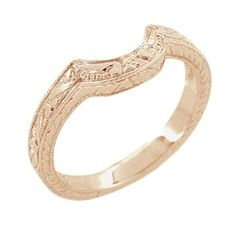 I'm really thinking a rose gold wedding band. =)