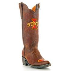 sale Gameday Womens 13' Brass Leather Iowa State Cowboy Boots (Size 5) IOS-L051-1