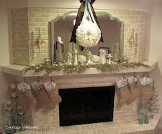 cottage instincts: Glitterfied Christmas Mantel.