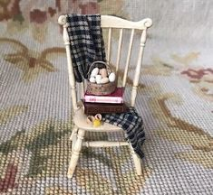 Bluette-Meloney-Dollhouse-Miniature-Estate-Sale-Chair-Dressed-182