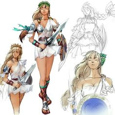 Hey guys, I've decided to go with Sophitia from Soul Calibur 3 for FanExpo. I'm starting to get things made or ready to be made, but I can't figure ou. Female Character Concept, Character Model Sheet, Female Character Design, Character Design Inspiration, Character Art, Soul Calibur Sophitia, Fantasy Characters, Female Characters, Soul Calibur Characters