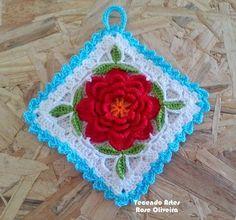 Tecendo Artes em Crochet: Novo Pega Panelas, Vem ver que Lindo! E tem Gráfico prá Vocês!