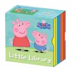 Peppa Pig's Little Library (Peppa Pig) Toddler Toys, Kids Toys, Peppa Pig Books, Peppa Pig House, George Pig, Little Library, Pig Party, 2nd Birthday Parties, Birthday Ideas