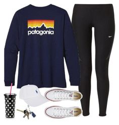 """Untitled #197"" by mayaxvi ❤ liked on Polyvore featuring NIKE, Patagonia, Converse, Kate Spade, Avon and Polo Ralph Lauren"