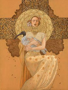 Leilani Bustamante #art #gold