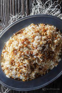 Lebanese Rice Recipe, Lebanese Recipes, Turkish Recipes, Greek Recipes, Rice Recipes, Cooking Recipes, Ethnic Recipes, Syrian Rice Recipe, Lebanese Cuisine