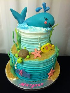 Cake inspiration photo Sea Turtle 3rd Birthday Party Bake