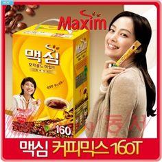 Korean style maxim mocha gold coffee mix stick type instant coffee