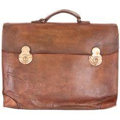 Vintage Kirkland Leather Bag Select Vintages ❤ liked on Polyvore