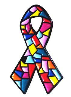 Dissociative Identity Disorder awareness ribbon lapel pins for sale - by Trauma Dissociation