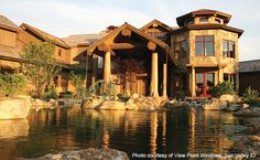 luxury log homes gallery | DCD Home Magazine: the Luxury Home Design & Decor Resource: featuring ...