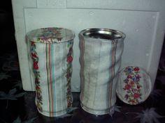Embalagem de achocolatado em decoupagem de papel toalha.