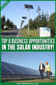 Renewable energy has been an important sector for many years, and there's no sign of this slowing down. As financial institutions divest from fossil fuels and world governments commit to climate objectives, investment in renewables is guaranteed to grow. Renewables are establishing themselves as a fundamental component of our models of the future. Check out these 8 Business Opportunities in the Solar Industry. #solar #solarenergy #technology #business #businessideas #greenbusiness #career #job Solar System Projects, Solar Energy Projects, Backyard Solar Lights, Solar Equipment, Solar Energy For Home, Green Jobs, World Government, Solar Panels For Home, Green Business