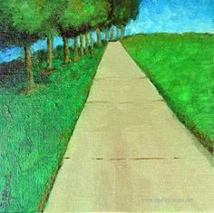 """""""At the end of the road"""" - Original Fine Art for Sale - © Sandhya Manne"""