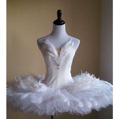 Ballet Costume Swan Lake Odette Tutu ($500) ❤ liked on Polyvore featuring costumes, ballet costumes, odette, ballerina costume and ballerina halloween costume