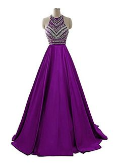 Awesome Himoda Women's Two Pieces Beaded Evening Gowns Satin Sequined Prom Dresses Long H052 2 1piece-Purple Cool Check more at http://fashion-land.top/product/himoda-womens-two-pieces-beaded-evening-gowns-satin-sequined-prom-dresses-long-h052-2-1piece-purple-cool/