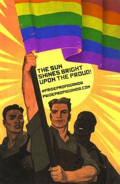 These LGBT Posters Rework Soviet Propoganda into Gay Pride #Olympics #Sochi