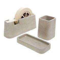 magnus pettersen concrete desk set