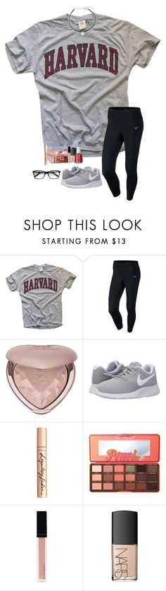 """""""shoutout to @jojo2056 for making my icon"""" by kellycarrick ❤ liked on Polyvore featuring NIKE, Too Faced Cosmetics, Charlotte Tilbury, Witchery, NARS Cosmetics, Essie and Saks Fifth Avenue"""