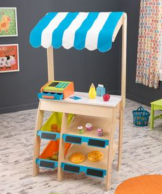Not to AG scale but cute too! Love this Grocery Marketplace Playset on #zulily! #zulilyfinds
