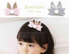 Baby girl headband baby turban Bunny ears bunny ears por GoGoGlam