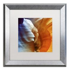 """Trademark Art """"Antelope Canyon"""" by Philippe Hugonnard Framed Photographic Print Size: 16"""" H x 16"""" W x 0.5"""" D"""