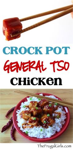 Crock Pot General Tso Chicken Recipe! ~ from TheFrugalGirls.com ~ kick up the flavor of your Crockpot Chicken Dinner and gain rave reviews with this asian inspired deliciousness! Just a few easy ingredients! #slowcooker #recipes #thefrugalgirls