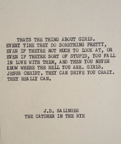 Catcher In The Rye Quotes Captivating Catcher In The Rye Quote  Nature And Landscapes  Pinterest