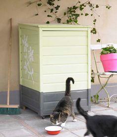Werk je afvalcontainer weg met een kast van tuinhout. Lees alles over materialen, gereedschap, ontwerp en montage in het KARWEI-stappenplan.