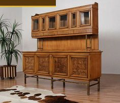 Mid Century JL Metz Contempora Credenza with Hutch Sideboard