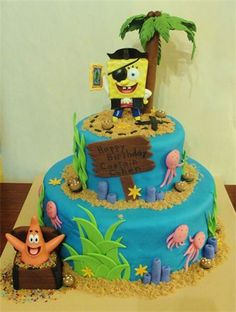 SpongeBob Pirate Birthday Cake :