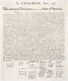 The Declaration of Independence, July 4th, 1776 by Thomas Jefferson et al. via wikipedia #Declaration_of_Independence #wikipedia