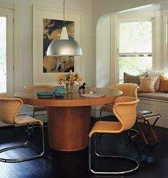 """A Modern Dining Combo: Wooden Tables & """"Other"""" Chairs   Apartment Therapy"""