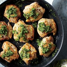 Chicken Thighs with Cilantro Sauce | CookingLight.com