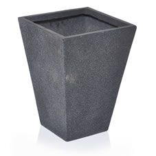 Wilko Sandstone Planter Tall Square Tappered Grey 30cmx40cm