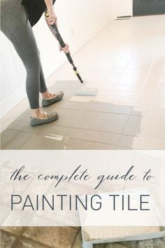 Complete Guide to Painting Tile Home Deco Complete Guide painted floor tiles Painting tile Painting Ceramic Tile Floor, Painting Tile Floors, Painted Floors, Painted Floor Tiles, Painting Bathroom Tiles, Ceramic Flooring, Stenciled Floor, Shower Tile Paint, Painting Tile Backsplash