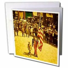 Scenes from the Past Magic Lantern Slides - Vintage Uncle Sam on the 4th of July - Greeting Cards-12 Greeting Cards with envelopes by Scenes from the Past. $15.95. Vintage Uncle Sam on the 4th of July Greeting Card is measuring 5.5w x 5.5h. Greeting Cards are sold in sets of 6 or 12. Give these fun cards to your friends and family as gift cards, thank you notes, invitations or for any other occasion. Greeting Cards are blank inside and come with white envelopes.